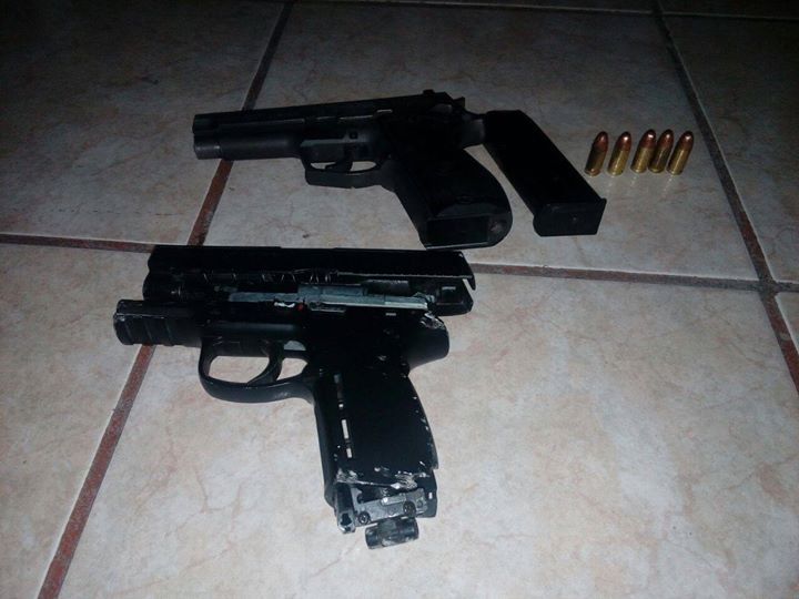 Dos capturados portando arma de fuego de manera ilegal